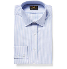 Emma Willis Blue Bengal-Striped Cotton Oxford Shirt