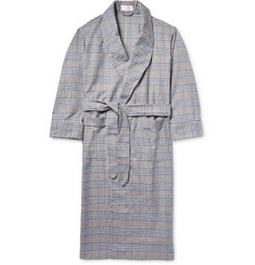 Emma Willis Checked Brushed-Cotton Robe