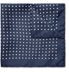Emma Willis - Polka-Dot Printed Silk Pocket Square