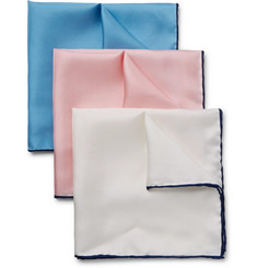 Emma Willis - Set of Three Silk-Twill Pocket Squares