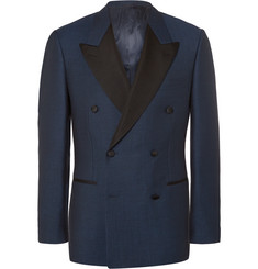 Kingsman - Blue Harry Slim-Fit Double-Breasted Wool Tuxedo Jacket