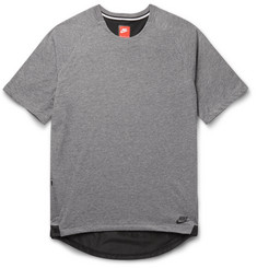 Nike Shell-Trimmed Jersey T-Shirt