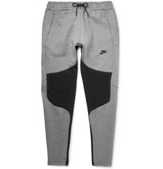 Nike Tapered Panelled Cotton-Blend Tech Fleece Sweatpants