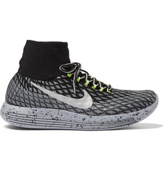 Nike Running LunarEpic Shield Flyknit High-Top Running Sneakers