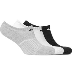 Nike Three-Pack Cushioned Cotton-Blend No-Show Socks