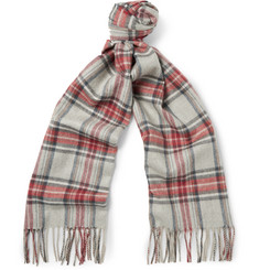 Begg & Co Vale Kelley Checked Lambswool and Cashmere-Blend Scarf