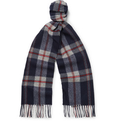 Begg & Co Jura Checked Lambswool and Cashmere-Blend Scarf