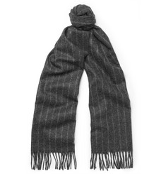 Begg & Co Striped Lambswool and Cashmere-Blend Scarf