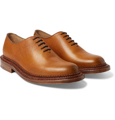 Grenson - Triple-Welted Grained-Leather Oxford Shoes