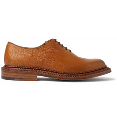 Grenson Triple-Welted Grained-Leather Oxford Shoes