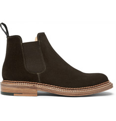 Grenson Christopher Triple-Welted Suede Chelsea Boots