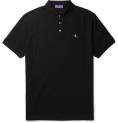Ralph Lauren Purple Label Slim-Fit Mercerised Cotton-Piqué Polo Shirt