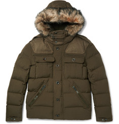 Ralph Lauren Purple Label Litchfield Faux Fur-Trimmed Canvas Down Hooded Parka