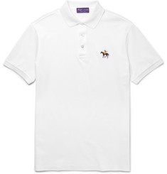 Ralph Lauren Purple Label - Slim-Fit Mercerised Cotton-Piqué Polo Shirt