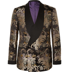 Ralph Lauren Purple Label - Slim-Fit Double-Breasted Silk-Jacquard Tuxedo Jacket