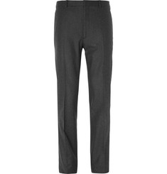 Ralph Lauren Purple Label Grey Slim-Fit Wool-Flannel Trousers