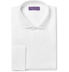 Ralph Lauren Purple Label - White Slim-Fit Cutaway-Collar Double-Cuff Cotton Tuxedo Shirt