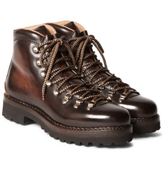 Ralph Lauren Purple Label - Fidel II Burnished-Leather Boots