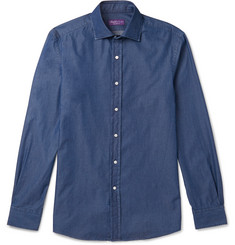 Ralph Lauren Purple Label Aston Slim-Fit Cutaway-Collar Cotton-Chambray Shirt