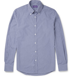 Ralph Lauren Purple Label Cameron Slim-Fit Button-Down Collar Gingham Cotton Shirt