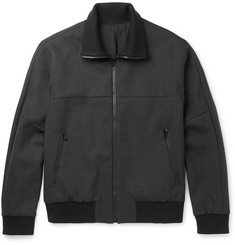 Solid Homme Wool-Blend Bomber Jacket