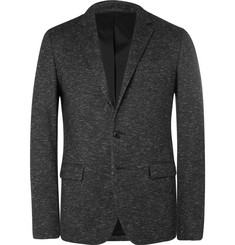 Solid Homme Grey Slim-Fit Wool-Blend Blazer