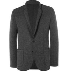 Solid Homme Grey Unstructured Felted Wool-Blend Blazer