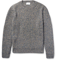 Solid Homme Mélange Ribbed-Knit Sweater