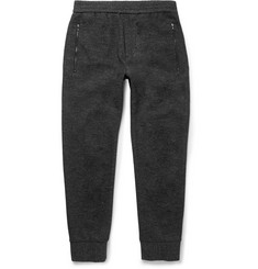Solid Homme Tapered Mélange Wool and Cotton-Blend Sweatpants