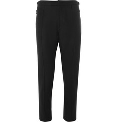 Solid Homme Slim-Fit Cropped Wool-Blend Trousers