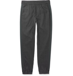 Solid Homme Tapered Stripe-Trimmed Wool Trousers