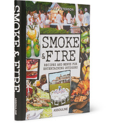 Assouline Smoke & Fire: Recipes & Menus for Entertaining Outdoors Hardcover Book