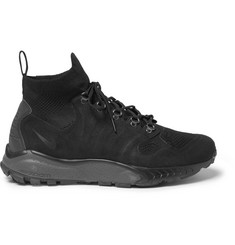Nike Zoom Talaria Suede and Flyknit Mesh Sneakers