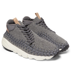 Nike - NikeLab Air Footscape Woven Chukka Felt, Leather and Neoprene Sneakers