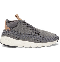 Nike Air Footscape Felt, Leather and Woven Mesh Sneakers