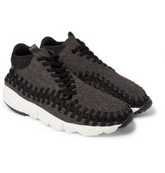Nike - NikeLab Air Footscape Tweed, Leather and Woven Mesh Sneakers