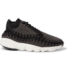 Nike Air Footscape Tweed, Leather and Woven Mesh Sneakers
