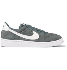 Nike Bruin Leather-Trimmed Nubuck Sneakers