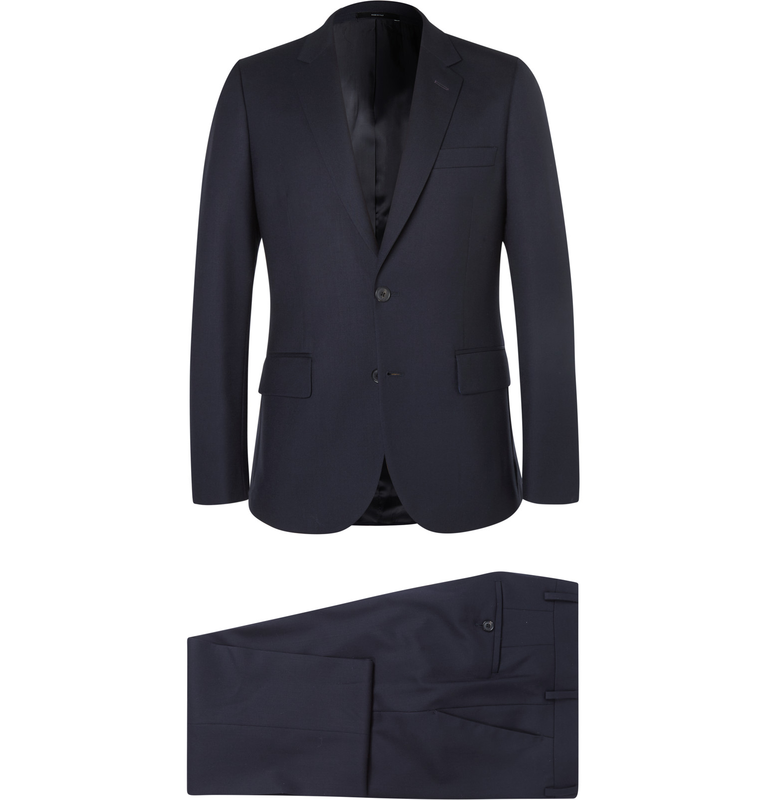 2a5d38a2 Paul Smith - Navy A Suit To Travel In Soho Slim-Fit Wool Suit