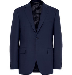 Canali Blue Slim-Fit Travel Water-Resistant Wool Blazer