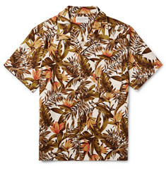 Neighborhood Camp-Collar Printed Cotton Shirt