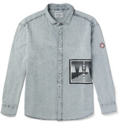 Cav Empt Printed Washed-Denim Shirt