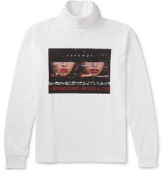 Cav Empt Printed Cotton-Jersey Rollneck Top