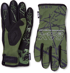 Cav Empt - + ST line by Ashram Stretch-Jersey Microfibre Tech Gloves