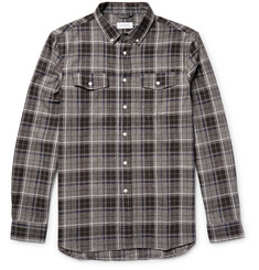 Saturdays NYC Javas Button-Down Collar Checked Cotton-Flannel Shirt