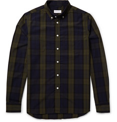 Saturdays NYC Crosby Button-Down Collar Black Watch Checked Cotton Oxford Shirt