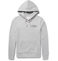 Saturdays NYC Ditch Three Dots Printed Loopback Cotton-Jersey Hoodie