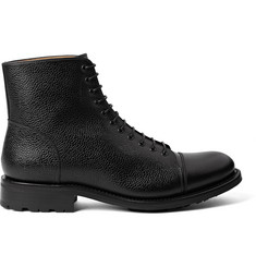 O'Keeffe Scout Pebble-Grain Leather Boots