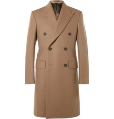 Kingsman Slim-Fit Double-Breasted Melton Wool Overcoat