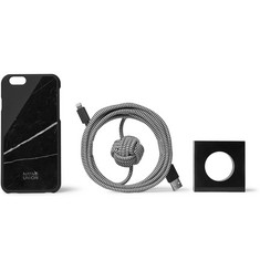 Native Union Night Marble CLIC iPhone 6 Case, Stand and USB Cable Set